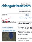 Chicago Tribune - Stevia, Feb 2009