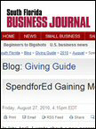 S. Florida Business Journal - SpendforEd, Aug 2010